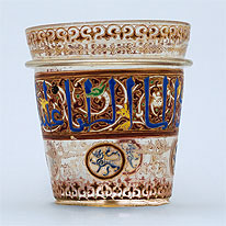 Mamluk Enamelled Glass Bucket